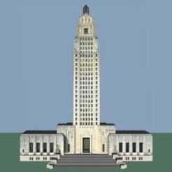 Télécharger plan imprimante 3D gatuit Capitole de l'État de Louisiane, jonbourg