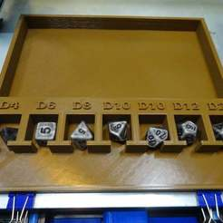 Download free 3D printing designs D&D Dice Tray - Labeled Dice Remix, jonbourg