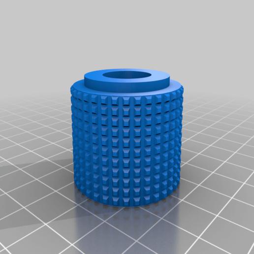 Knob.png Télécharger fichier STL gratuit Porte-bobine à centre ajustable • Design pour imprimante 3D, jonbourg