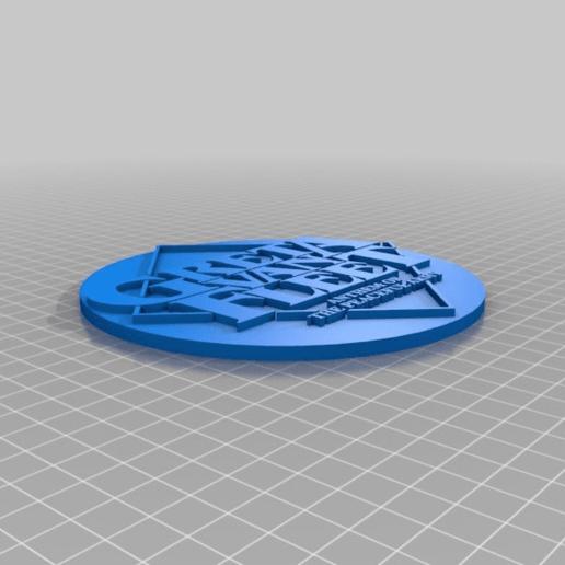 Download free GCODE file Greta Van Fleet Coaster • 3D print design, jonbourg