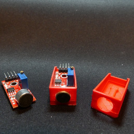 P1140339.JPG Download free STL file Arduino Sound Sensor Bracket • 3D printable template, Linventif