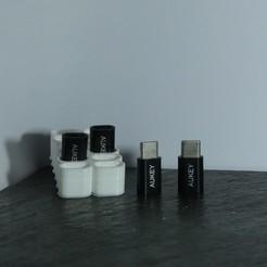 Télécharger STL gratuit Boite A Adaptateur Usb Type C, linventif