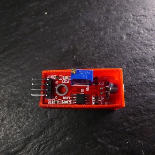 P1120677.JPG Download free STL file Arduino Sound Sensor Bracket • 3D printable template, Linventif