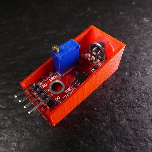 P1120674.JPG Download free STL file Arduino Sound Sensor Bracket • 3D printable template, Linventif