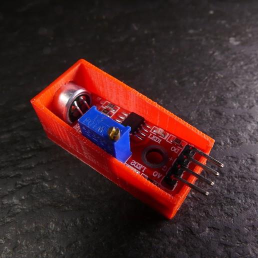 P1120673.JPG Download free STL file Arduino Sound Sensor Bracket • 3D printable template, Linventif