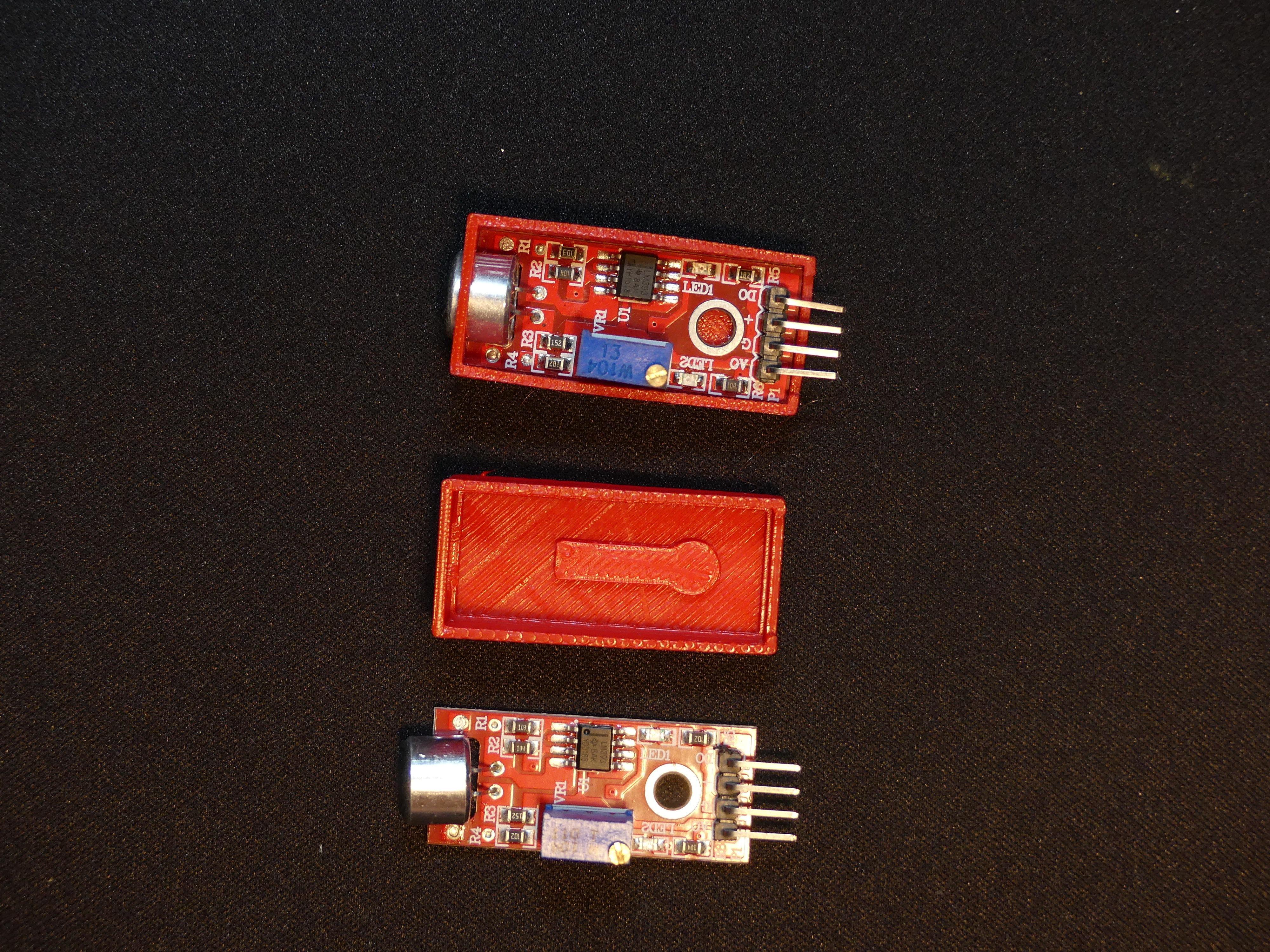 P1140342.JPG Download free STL file Arduino Sound Sensor Bracket • 3D printable template, Linventif