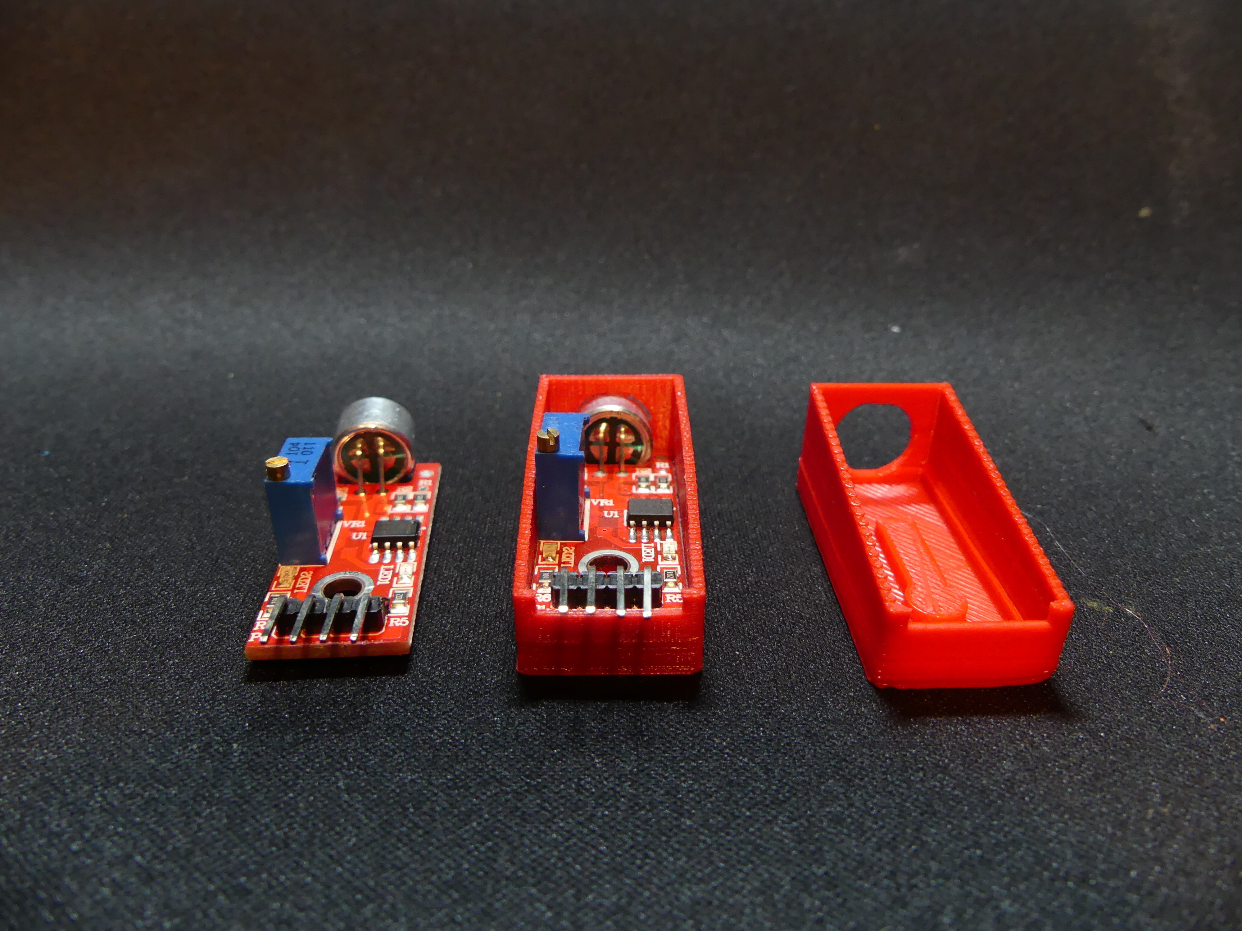 P1140355.JPG Download free STL file Arduino Sound Sensor Bracket • 3D printable template, Linventif