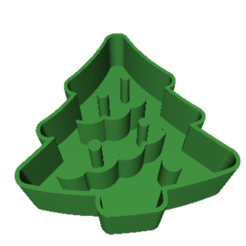3D printing model Christmas tree piece cutter, dj_fun_star