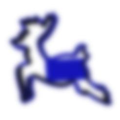 Impresiones 3D Cortador de monedas de reno de Papá Noel, dj_fun_star