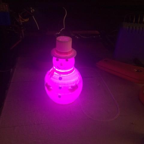 3D printing model RGB LED Snowman, EngaolI