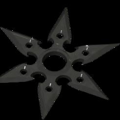3D printer models Shuriken ninja star 6 branches, Loac79
