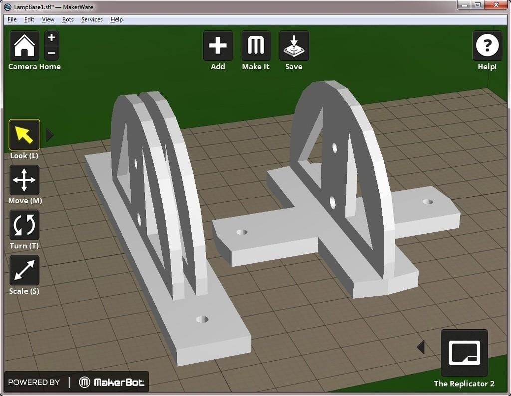 MakerWare_display_large.jpg Download free STL file Grundtal Spotlight Swivel Mount • 3D printing template, Jeypera3D