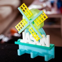 _DSC4161-edit_display_large.jpg Download free 3DS file Windmill coat hanger with mechanics • 3D print object, Jeypera3D