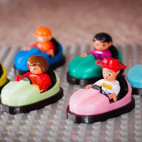 Free 3D printer designs Lego and Duplo Bumper Car, Jeypera3D