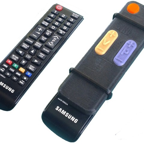 Download free STL file TV Remote adaptor for seniors, Jeypera3D