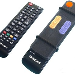 Free STL files TV Remote adaptor for seniors, Jeypera3D