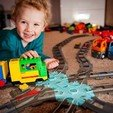 Download free 3D printing templates Duplo hexagon railroad crossing, Jeypera3D