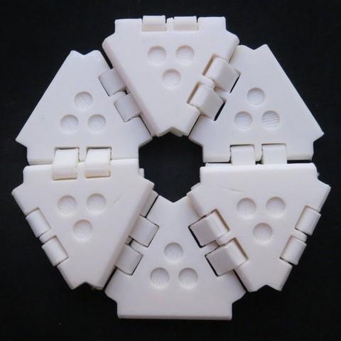 Download free 3D printer designs Another Hexaflexagon, bobodurand4589