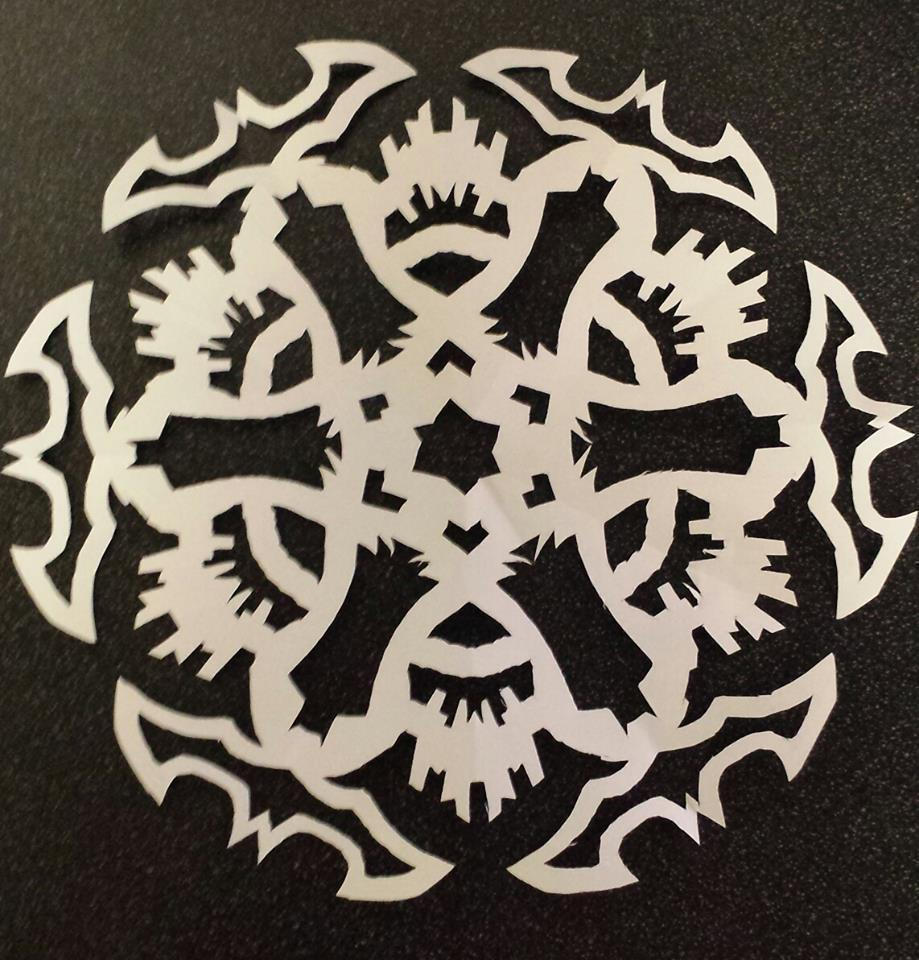bat_flake_paper_display_large.jpg Download free STL file Bat Flake • Template to 3D print, Ghashnarb