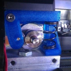 Download free STL files mk8 extruder mod for  larger springs, Ghashnarb