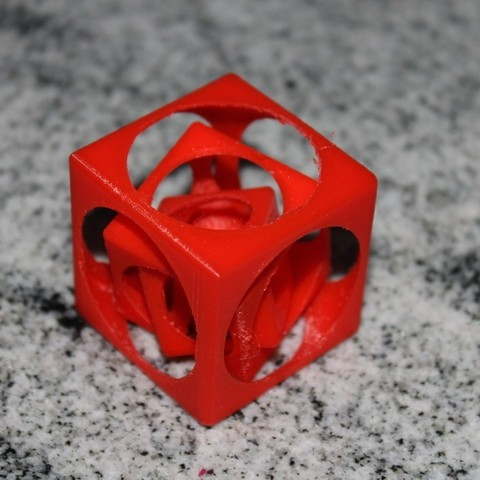 Download free STL nested cubes, Ghashnarb