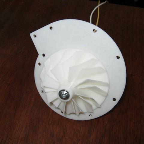 Télécharger fichier STL gratuit Turbine à moteur 12V DC ・ La Poste