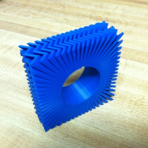 IMG_0935_display_large.jpg Download free STL file Zigzag napkin ring / trying to get a job. • 3D print template, Ghashnarb