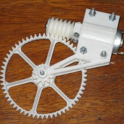 Download free 3D printing designs Worm-Gear Reducer, Ghashnarb
