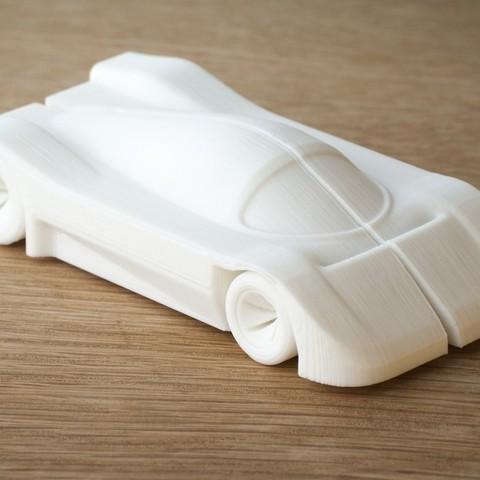 Download free 3D printer designs car (mercedes c9 inspired), Yazhmog