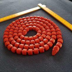 Free 3D model Articulated Snake - Very long !, rvi