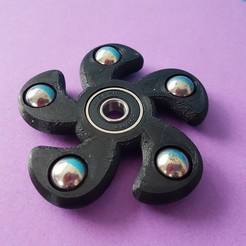 ec234df920fe5c8262d20dd05decc151_display_large.jpg Download free STL file Fidget Spinner 5 branches - Balls 12.7mm - 1/2 inch • 3D print object, rvi