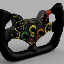 Descargar modelos 3D para imprimir DIY AUDI R8/LAMBORGHINI HURACAN Steering Wheel, SimWheel_Designs