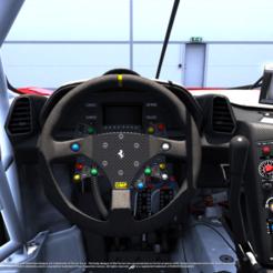 Download 3D printer designs DIY Ferrari 458 GT2 Led Steering Wheel (WITH BACK COVER), SimWheel_Designs