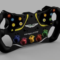 Descargar modelos 3D para imprimir DIY ASTON MARTIN VANTAGE GTE SWD Steering Wheel, SimWheel_Designs