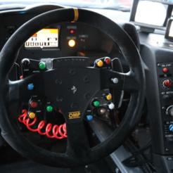 Download 3D printer model DIY Ferrari 458 GT2 Led Steering Wheel (NO BACK COVER), SimWheel_Designs
