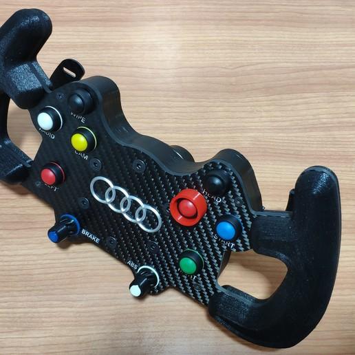 Download 3D Printing Files DIY AUDI RS5 DTM Steering Wheel
