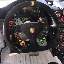 Download 3D model DIY PORSCHE 911 GT3 Fiber SABELT Steering Wheel, SimWheel_Designs
