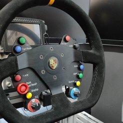EfuvaGqWkAAMh9E.jpg Download STL file DIY PORSCHE 911 GT3 Fiber SABELT Steering Wheel • 3D printing template, SimWheel_Designs