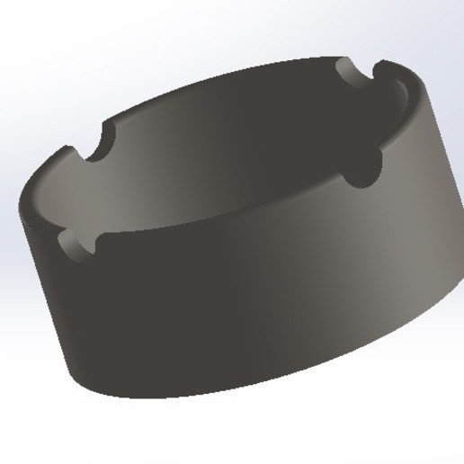cenicero2.jpg Download free STL file V2 ashtray • 3D printing template, conagrr