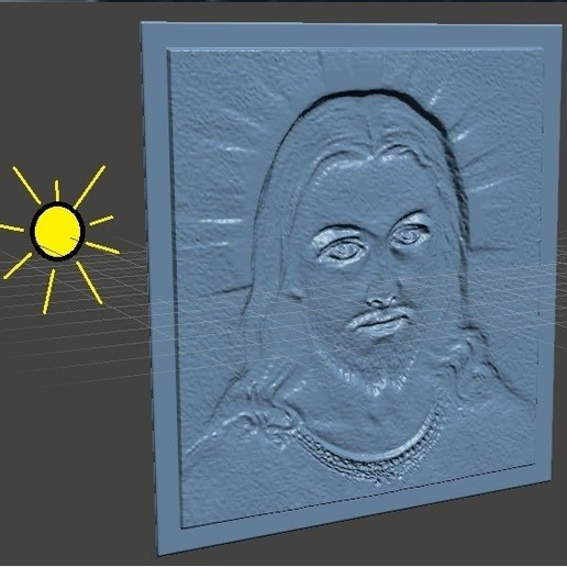 "Download free 3D printer designs Translucent Picture ""JESUS"", conagrr"