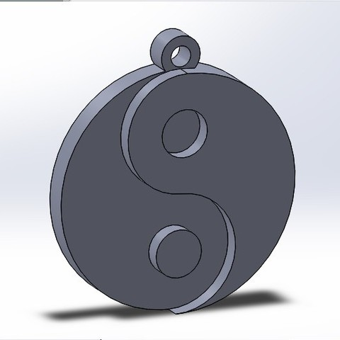 Download free STL file Yin-Yang keychain or necklace, conagrr