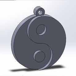 yin-yang.jpg Download free STL file Yin-Yang keychain or necklace • 3D print object, conagrr