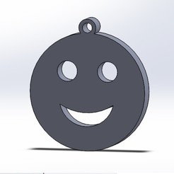 feliz1.jpg Download free STL file Keychain or Happy Face Pendant • 3D print model, conagrr
