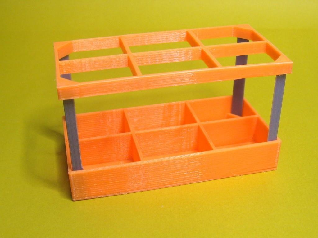 OrgBoxC_display_large.jpg Télécharger fichier STL gratuit Organisateur d'ustensiles cosmétiques • Design à imprimer en 3D, Duskwin