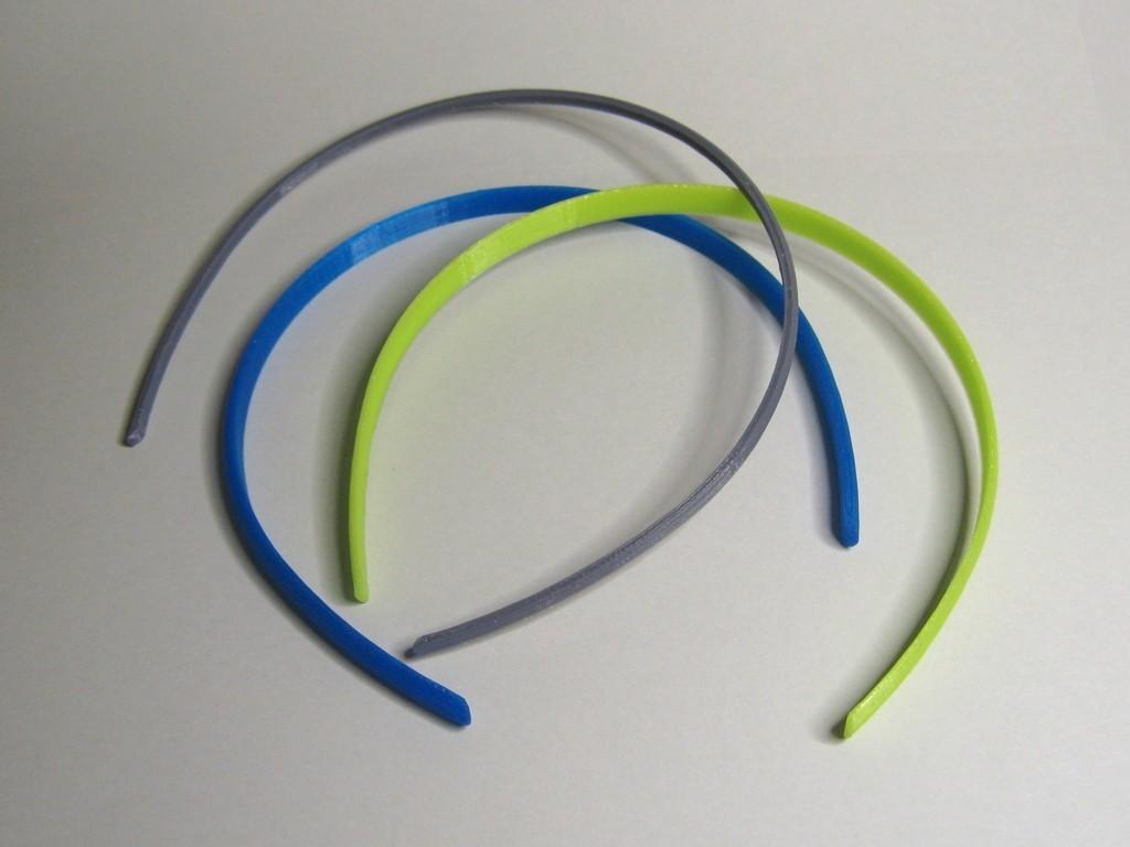 HairBand_display_large.jpg Download free STL file Customizable Hair Band • 3D printer template, Duskwin