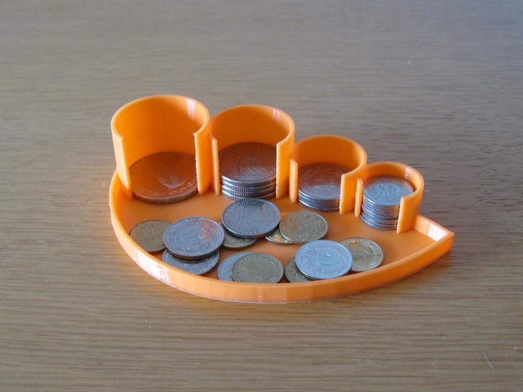 CHFCoinHolder_display_large.jpg Télécharger fichier STL gratuit Porte-monnaie • Objet imprimable en 3D, Duskwin