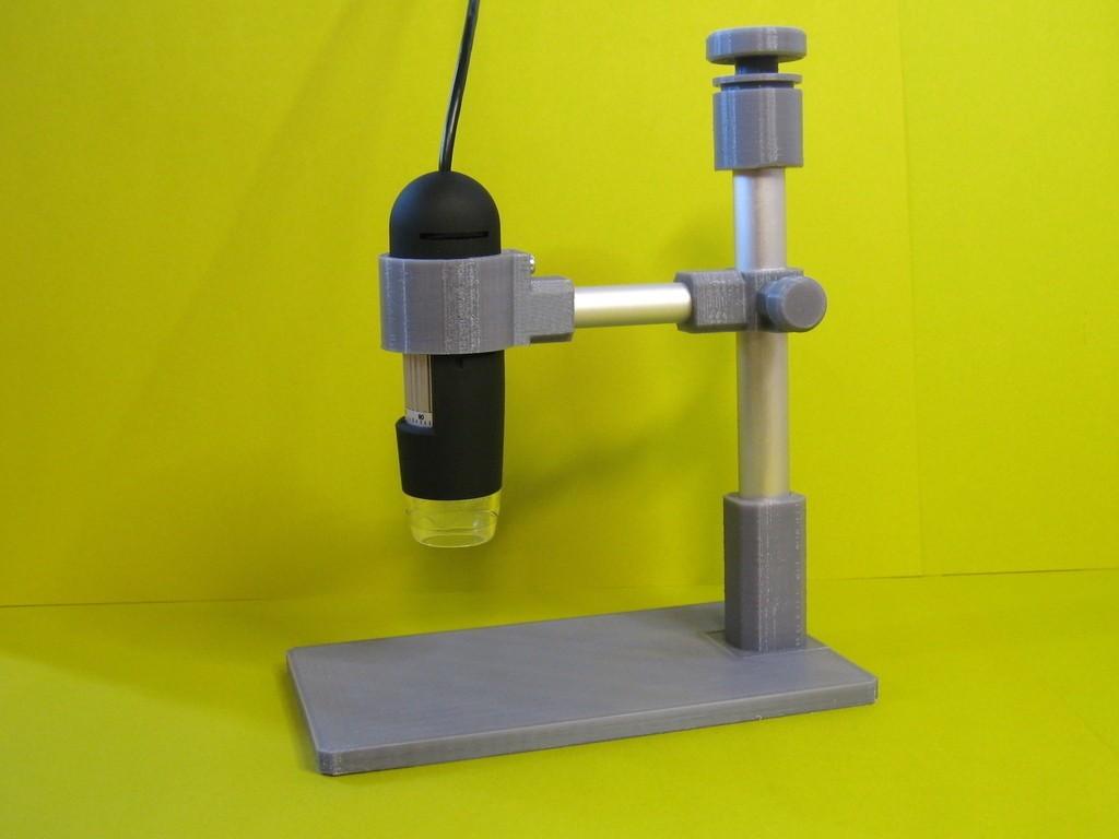 MicroscopeStand1_display_large.jpg Télécharger fichier STL gratuit Support de microscope USB • Design pour impression 3D, Duskwin