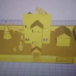 STL files Christmas house scene, johnkindon1
