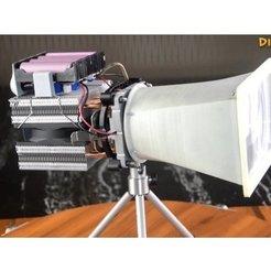 Free 3D printer files diy_seachlight_LED__Torch_flashlight__spotlight, mrchendiy