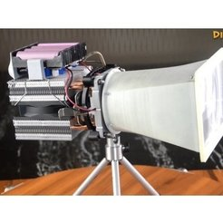 Télécharger plan imprimante 3D gatuit diy_seachlight_LED__Torch_flashlight__Spotlight, mrchendiy